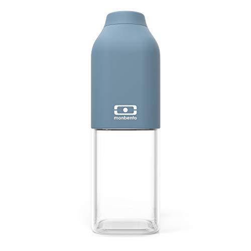 monbento - MB Positive M Azul Denim 50cl - Botella Agua sin BPA - Botella Tritan Reutilizable - Ideal para el Deporte y la Oficina