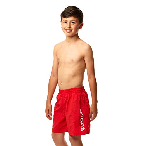 Speedo Challenge 15 Wsht Jm, Pantaloncini da Bagno Bambino, Rosso (USA Red), 13-14 Anni