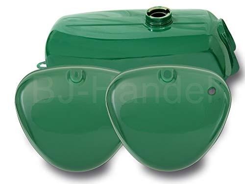 Tank Kraftstoffbehälter + Seitendeckel grün für Simson S50, S51, S60, S70