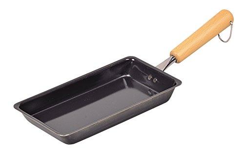 パール金属 卵焼き 鉄フライパン 10.5×21cm IH対応 一気に巻ける お弁当用 玉子焼き器 鉄職人 日本製 HB-90710,5×21cm