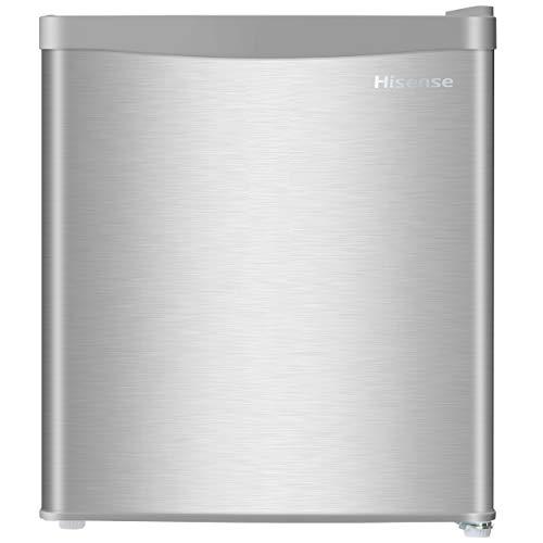 ハイセンスステンレス1ドア冷蔵庫42L右開き式省エネ基準達成率123%ノンフロンHR-A42JWS2019年モデル