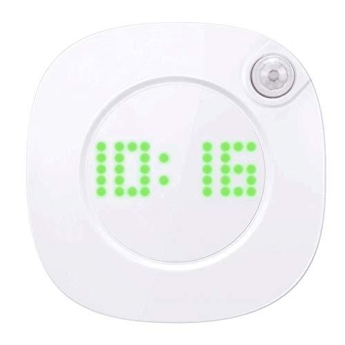 Homealexa LED Nachtlicht mit Zeitanzeige, Bewegungsmelder USB Warmlicht/Weißlicht, Magnetisch Nachlampe, Augenfreundlich Nachttischlampe für Baby, Kinderzimmer, Treppenaufgang Orientierungslicht