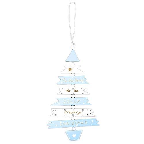 BCDZZ en Bois Peint Arbre de Noël chaîne Pendentif Mignon Multicolore créatif décoration de Noël,Bleu