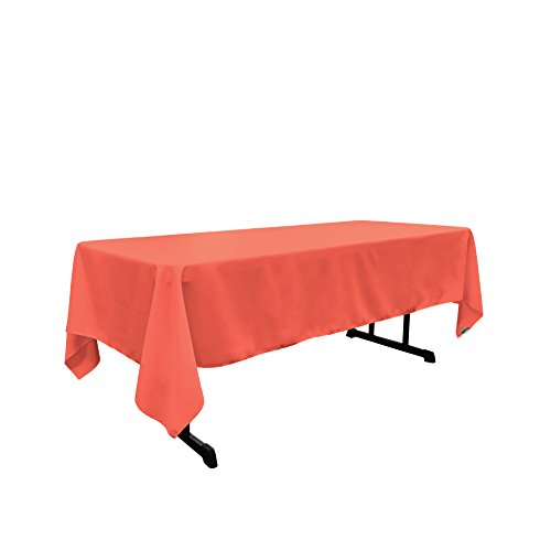 LA Linen Rectangular Tablecloth 60x115, Coral
