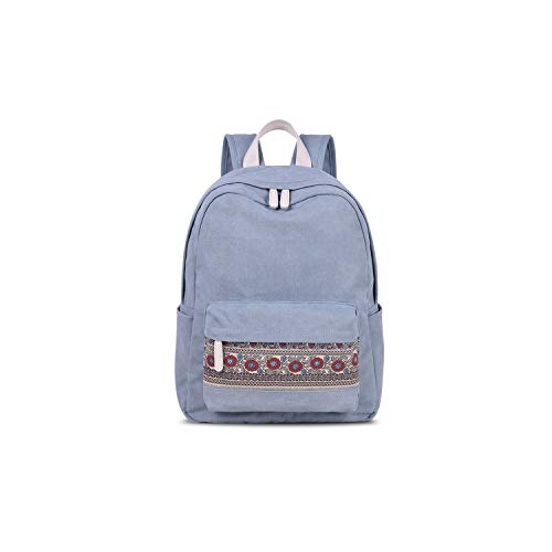 Daking-store basic backpacks Mochila de lona para mujer, estilo retro, para viajes, estilo casual, floral, para universidad
