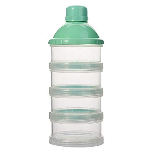 Arichtop Portátil para bebé bebé Leche en Polvo el Caso Capas Caso del de Comida Snacks Dispensador Caramelo contenedor de Almacenamiento Pot Box 4 Capas