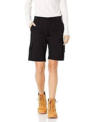 Dickies Women's 11 Inch Relaxed Cargo Short, Black, 20