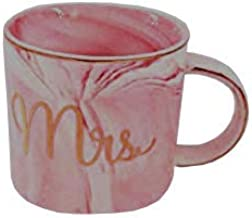 13.3Oz Marble Ceramic Mug for Office and Home Gold Rim Coffee Cup Perfect Gift for your beloved Wife, Family and Friend, Mrs for Women. Available color pink. Designed by H&L Zak-ka Home