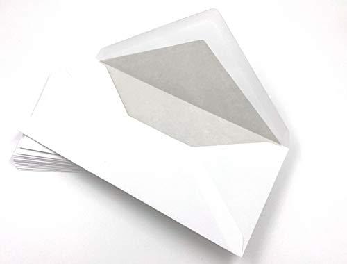 100 Leinen-Briefhüllen mit hellem Seidenfutter in DIN lang = 220 x 110 mm, Leinenpapier-Kuverts