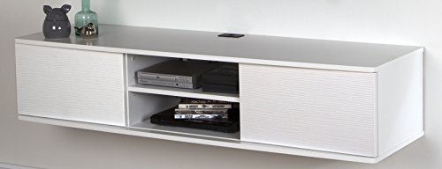 South Shore Floating Wall Mounted Media Console, Pure White, 56',