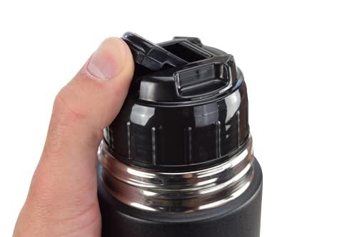 Milu Isolierflasche Deckel Auslaufsicher - Thermoskanne Abdeckung - Ersatzdeckel Trinkflasche Kappe - Travel Mug Zubehör (Schwarz, 750ml)