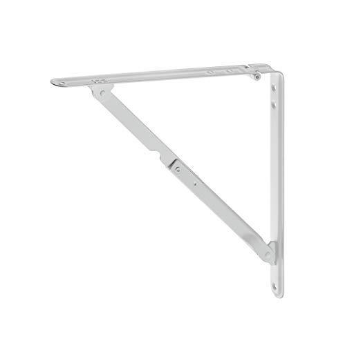 Gedotec Klappkonsole klappbar Klappenträger Tisch Klappenstütze Wand-Montage| Tiefe: 210 mm | Stahl weiß matt | Tragkraft bis 30 kg | Made in Germany | 1 Stück - Tisch-Verlängerung zum nachrüsten