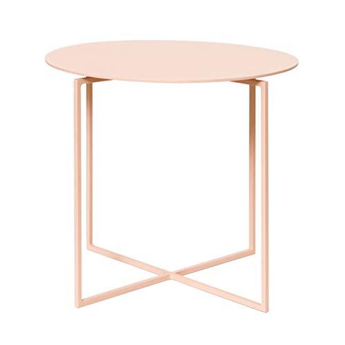"""Mesa de centro de diseño simple Mesa de extremo redonda de metal, mesa lateral Matte premium Texture Tabla de café pequeña for sala de estar Baño Baño Balcón y oficina, 15.7 """"DX13.7"""" H Mesa auxiliar m"""