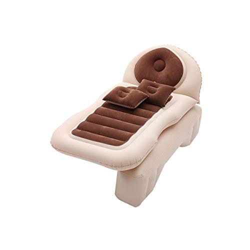 DXMCC Materassi ad Aria Materasso Gonfiabile da Auto Materasso Letto Gonfiabile per Auto Sedile Posteriore Macchina (Color : Brown, Size...