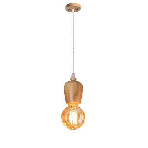 Lámpara de techo con portalámparas E27 para salón, dormitorio Loft (bombilla no incluida)1 x E27, AC85-265V, dim. 8 x 10 cm, longitud del cable: 100 cm