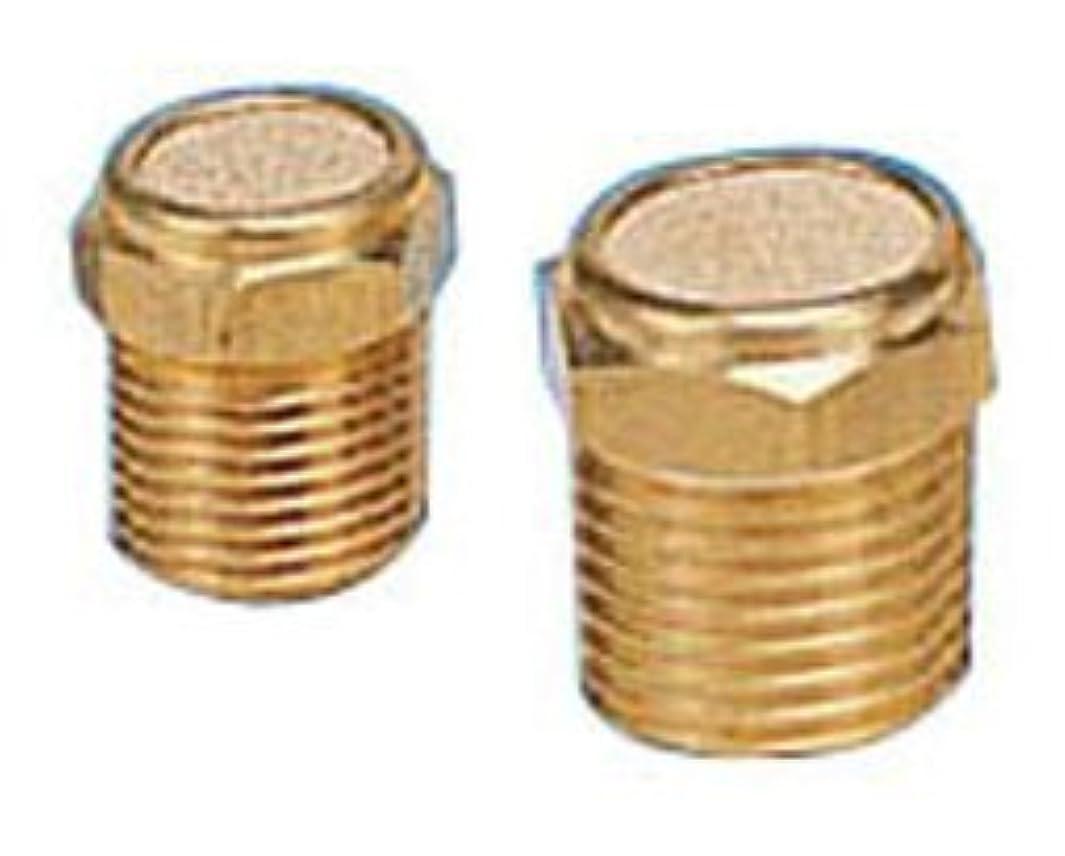 PneumaticPlus BV-18 Sintered Bronze Breather Vent - Brass Body 1/8