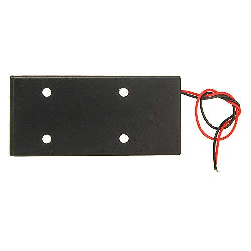 Módulo electrónico Contenedor de caja de caja de almacenamiento de la batería de plástico 3.7V con interruptor de encendido/apagado para 2x18650 baterías Equipo electrónico de alta precisión