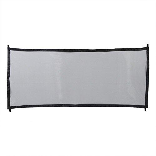 Rejilla de protección Plegable para Perros con Bastones y Ganchos Extensibles para Perros y Gatos, 182 x 80 cm(Negro) ✅