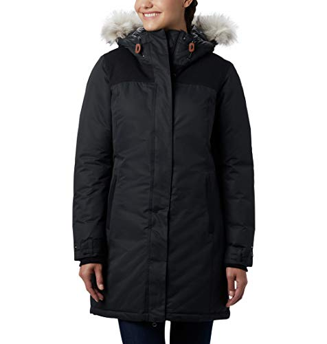 Columbia Lindores, Chaqueta impermeable, Mujer, Azul (Geyser), Talla M
