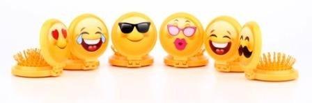 DISOK - Cepillo Espejo Emoticonos - Espejos para Detalles de Bodas, Comuniones y Bautizos. Espejitos Baratos y Originales. Precio por Unidad