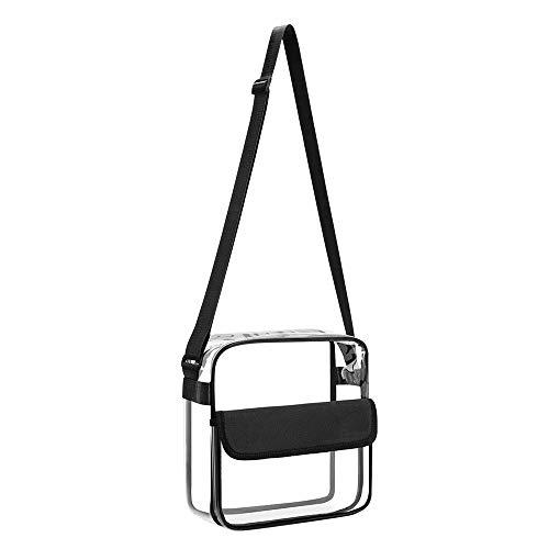 Preisvergleich Produktbild VVU Klare Kulturtasche Handtasche Schultertasche Tragetasche mit Reißverschluss und verstellbarem Riemen