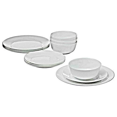 IKEA OFTAST 12-teiliges Service Set - 4 x Speiseteller, 4 x tiefe Teller, 4 x Dessertschalen