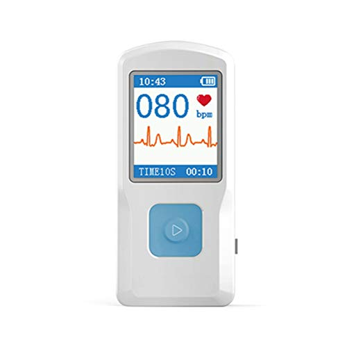 SingDeRing Appareils de surveillance du cœur EKG | Électrocardiogramme portable PM10 ECG, appareil de surveillance de la fibrillation aérienne et moniteur Holter