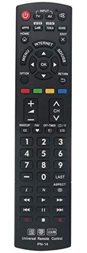 New Universal Controller Replaced Remote Works for 99% Panasonic LED LCD LEARN 3D TV Also SUBs N2QAYB000926 N2QAYB000485 N2QAYB000837