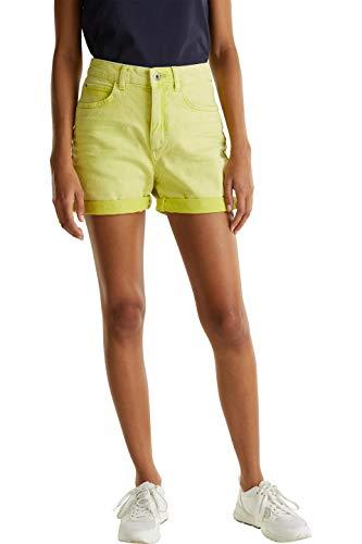 edc by ESPRIT Damen 030CC1C304 Shorts, 760/LIME Yellow, 36
