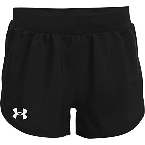 Under Armour Girl's Fly By Shorts (Big Kids) Black LG (14-16 Big Kids)