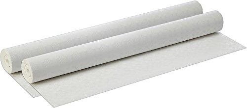 Papstar 12542 Papiertischtuch mit Damastprägung, 50 m x 1 m, weiß (2 Rollen)