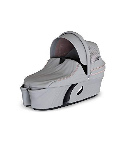 STOKKE® Xplory® Babyschale - Kinderwagenaufsatz mit fester&schützender Außenschale - atmungsaktive Matratze aus Sorona - erweiterbares & belüftbares Verdeck mit Blendschutz - Farbe: Athleisure Pink