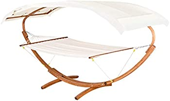 Outsunny 13 Inch Wood Roman Arc 2 Person Hammock Stand
