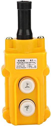 Grúa Cadena de elevación Interruptor de botón pulsador Botón de conducción Elevación Colgante Controlador a prueba de lluvia ARRIBA Abajo Interruptor de elevación eléctrico