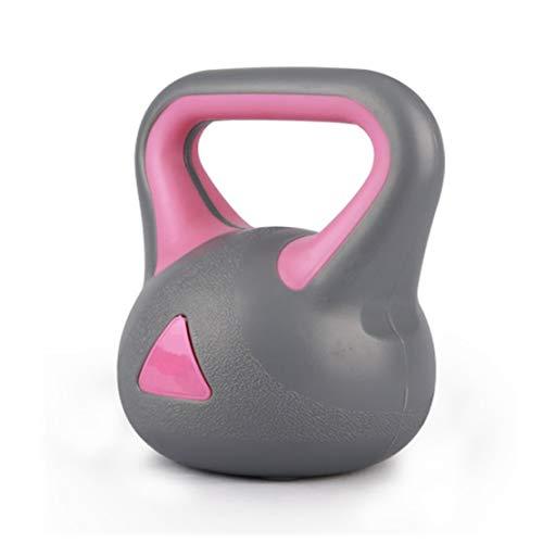 JLDN Aptitud Pesa Rusa, Kettlebell portátil Antideslizante asa fisicoculturismo Entrenamiento con Pesas, Kettlebells para la Fuerza y Entrenamiento Cardiovascular,Pink_6Kg