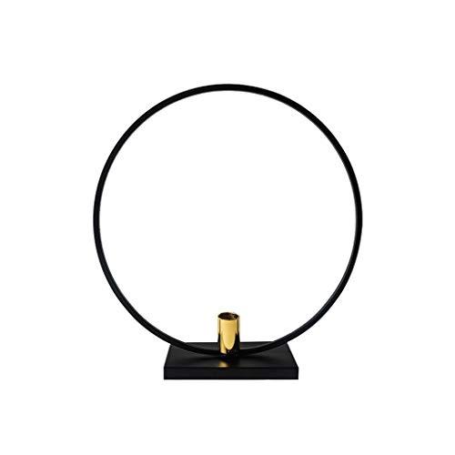 candelabros para mesa Nórdico Ronda Portavelas simple Negro candelero té vela de la luz del sostenedor del hogar Tabla Candlelight Dinner Decoration Hierro Metal Craft candelabros para velas de pilar