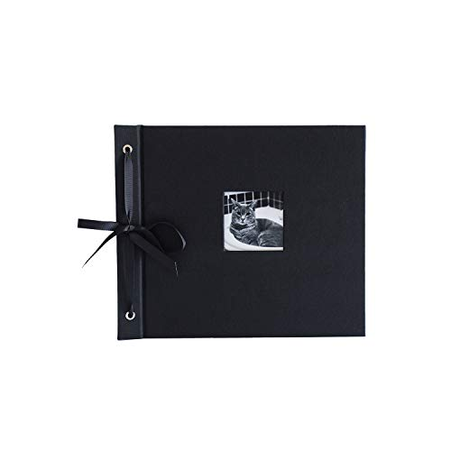 Kolo, Newbury Refillable Scrapbook, Black Cover, Black Pages, 9 x 10 inches (100-3001)