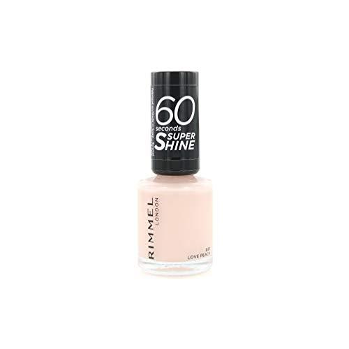 Rimmel London Super Shine Nagellack, 60 Zoll, 001 Love Peach, 8 ml