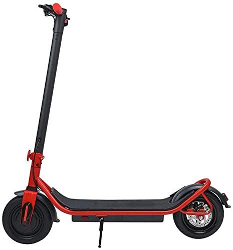 FDGSD E Scooter de Movilidad Plegable Scooter eléctrico Todoterreno 350 W / 36 V Batería de Litio de Carga Neumáticos sólidos de 10 Pulgadas Alcance de 65 km Velocidad máxima 30 km/h para Adulto