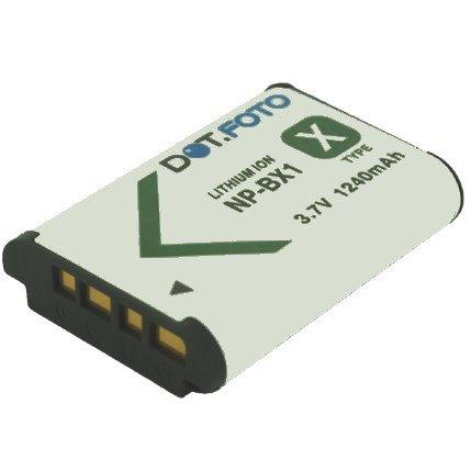 Dot.Foto Batterie de qualité pour Sony NP-BX1, NPBX1, NP-BX1.CE - 3,7v / 1240mAh - Entièrement 100% compatibles - garantie de 2 ans [Pour la compatibilité voir la description]