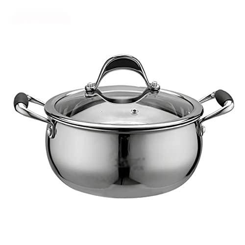 ZLJ Pentola per brodo pentola per zuppa addensata in Acciaio Inossidabile 18-10   pentola Antiaderente (18 20 24 cm) per fornello a Gas fornello a induzione Pentola per Il brodo (Dimensioni: