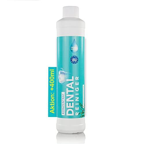 AKTION: Dental Ultraschallreiniger Konzentrat 600ml +400ml GRATIS – Reinigungskonzentrat für jedes Ultraschallreinigungsgerät für Zahnprothesen, Gebisse, Zahnersatz – Prothesenreiniger (600 ml)