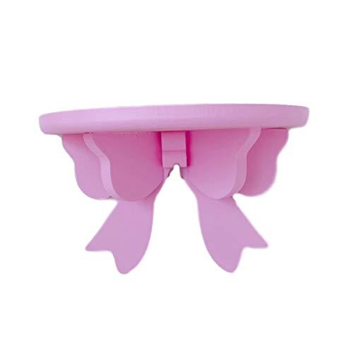 ウォールシェルフ リボン 20×12×8.5cm 薄桃色 飾り棚 木製 かべかざり アンティーク たな 壁 棚 壁掛け [waschosen] (ピンク)