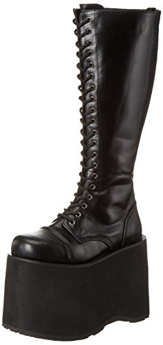 Demonia MEGA-602, Damen Langschaft Stiefel, Schwarz (Schwarz (Blk Pu)), 42 EU (7 Damen UK)