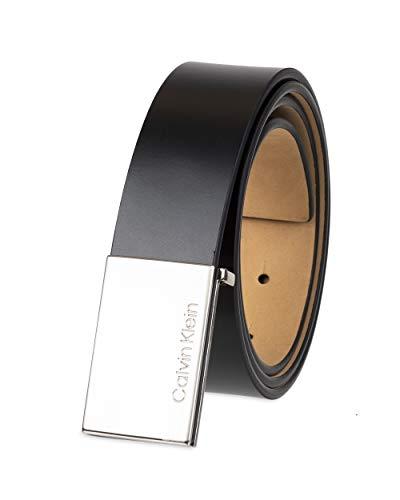 Calvin Klein Men's Logo Buckle Belt, black, 38