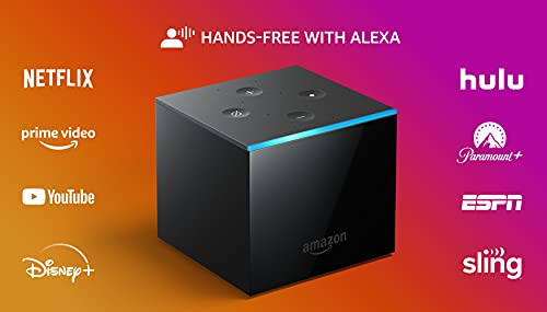 All-new Fire TV Cube, hands-free with Alexa and 4K Ultra HD, streaming media player