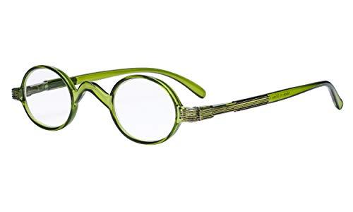 Eyekepper Readers Lente stempel Vintage Mini Kleine ovale ronde leesbril groen +3.0