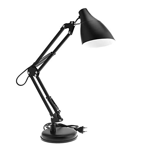 zhuojian Lámpara de mesa plegable, lámpara de protección de ojos, lámpara de trabajo de reparación para estudio/trabajo de oficina/dormitorio/mesita de noche/regalo negro1