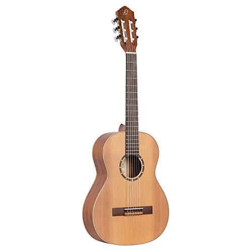 Ortega Guitars R122-3/4 concertgitaar in 3/4 grootte natuur in zijdematte afwerking met hoogwaardige Gigbag