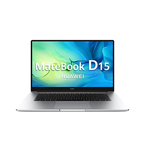 "Huawei Matebook D15 - Ordenador Portátil Ultrafino de 15.6"" FullHD (Intel Core i3-10110U, 8GB de RAM, 256GB SSD, Grafica Intel UHD 620, Windows 10 Home) Plata - Teclado Español"